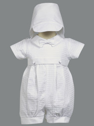Mason ~ Cotton weaved romper with detachable gown.