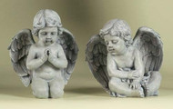 "Garden Statue, Cherub 9.5"" Sitting and Kneeling"