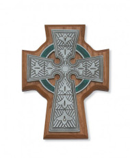 Celtic Cross,  Walnut or Cherry Stained