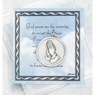 Inspirational Moments,Serenity Prayer Token with  Prayer Card