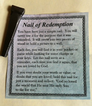 Nail of Redemption Token and Prayer Card