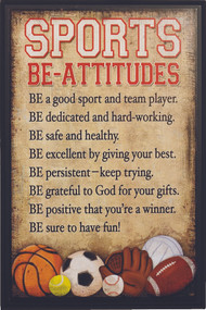 Be-Attitudes Sports Plaque