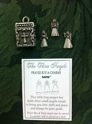 Prayer Box Charm  with Three Angels