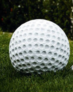 Outdoor Cement Statue, Golf Ball
