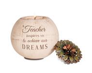 Round Tea Light Holder for a Teacher