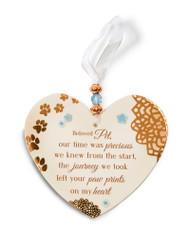 Beloved Pet Hanging Heart Shaped Ornament