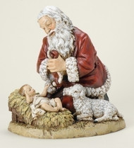 "Kneeling Santa Figure, 8 or 13"" heights"