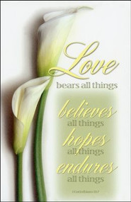Love Bears All Things, Calla Lily - Wedding Program Covers