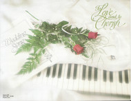 Wedding Panoramic Program Cover, Wedding Song with Roses and Keyboard