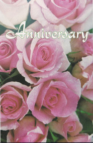 Anniversary Program Covers with Pink and White Flowers