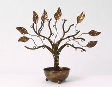 Ancient Graffiti Jewelry Tree w/Bowl Large