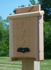 Songbird Essentials Large Double Chamber Cedar Bat House, Made in USA