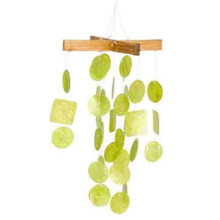 Asli Arts Collection C127 Mini Lime Green Capiz Chime