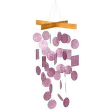 Asli Arts Collection C129 Mini Raspberry Capiz Chime