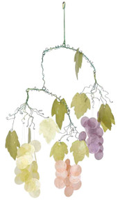 Asli Arts 21-Inch Grapes Capiz Chime