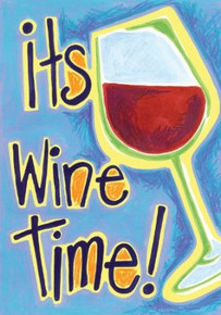 Toland Home Garden It's Wine Time 28 x 40-Inch Decorative USA-Produced Double-Sided House Flag