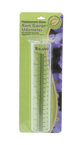Toland Home Garden Glass Replacement Decorative Rain Gauge Statue Tube Udometer with Large Printed Numbers 227200