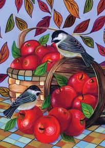 Toland Home Garden  Apple Basket 12.5 x 18-Inch Decorative USA-Produced Garden Flag