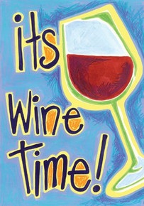 Toland Home Garden It's Wine Time 12.5 x 18-Inch Decorative USA-Produced Double-Sided Garden Flag
