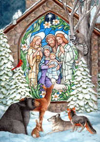 Toland Home Garden Winter Nativity 28 x 40-Inch Decorative USA-Produced House Flag
