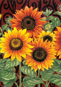 Toland Home Garden Sunflower Medley 28 x 40-Inch Decorative USA-Produced House Flag