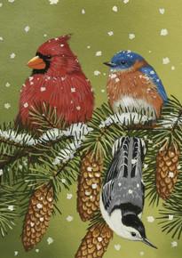 Toland Home Garden Snowy Friends 28 x 40-Inch Decorative USA-Produced House Flag