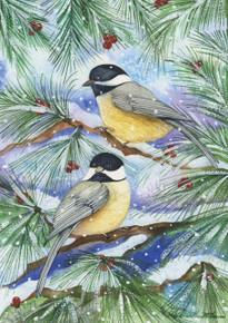 Toland Home Garden  Snowy Birds 12.5 x 18-Inch Decorative USA-Produced Garden Flag