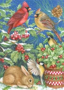 Toland Home Garden  Winter Feast 12.5 x 18-Inch Decorative USA-Produced Garden Flag