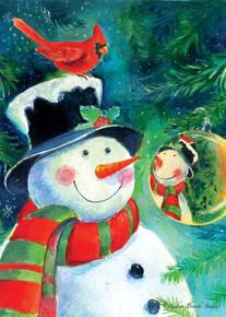 Toland Home Garden Reflection Snowman 12.5 x 18-Inch Decorative USA-Produced Garden Flag