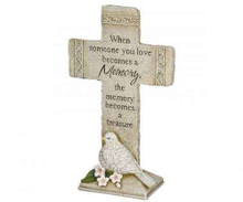 Carson Home Accents Peaceful Reflections Garden Marker, 11.75-Inch High, Memories Cross