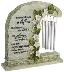 Carson Home Accents Peaceful Reflections Garden Chime, 8.5-Inch High, Memories