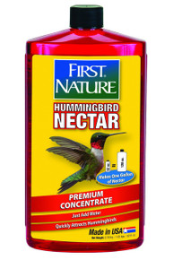 First Nature 3054 Red Hummingbird Nectar, 32-ounce Concentrate