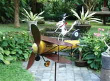 Blue Handworks Spike Dog Aviator Whirligig Sculpture