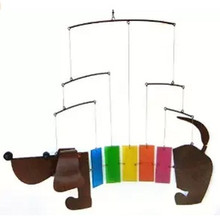 Blue Handworks Rainbow Dachsie Mobile BLUEG478