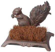Boot Brush Squirrel Statue