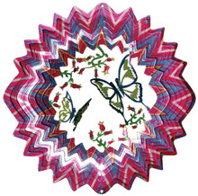 Iron Stop D6010 3 Dimensional Designer Butterfly Wind Spinner
