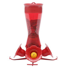 Perky-Pet 403CP Pinch Waist Plastic Hummingbird Feeder with Free Nectar, 8-Ounce