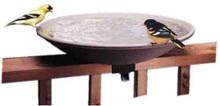API 645 Unheated Bird Bath Bowl with Tilt-to-Clean Deck Rail Mounting Bracket