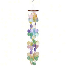 Bright Colored Capiz Waterfall Chime