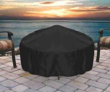 Sunnydaze Round Black Fire Pit Cover, 36 Inch