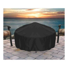 Sunnydaze Round Black Fire Pit Cover, 48 Inch