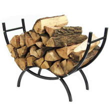 Sunnydaze 3-Foot Curved Firewood Log Rack and Cover Combo