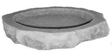 Kay Berry Inc. 31001 18 x 17 x 2.75 Cast Stone Bird Bath Top