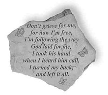 Kay Berry- Inc. 65220 Don-t Grieve For Me - Memorial - 12.5 Inches x 10.5 Inches