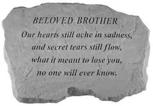 Kay Berry- Inc. 99220 Beloved Brother-Our Hearts Still Ache In Sadness - Memorial - 16 Inches x 10.5 Inches x 1.5 Inches