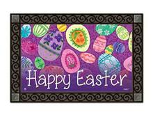 """Eggstravaganza Easter Doormat Indoor / Outdoor Bunny MatMates 18"""" x 30"""""""