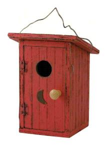 Songbird Essentials Birdie Loo Red Birdhouse SE912