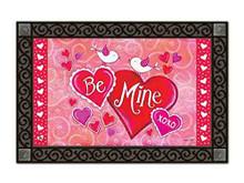 """Be Mine Birds Doormat Valentine's Day Indoor Outdoor MatMates 18"""" x 30"""""""