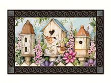 Cottage Birdhouse MatMates Doormat