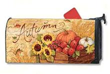 MailWraps Autumn Cart Mailbox Cover #01223